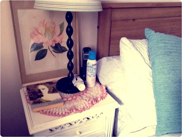Organised bedside table
