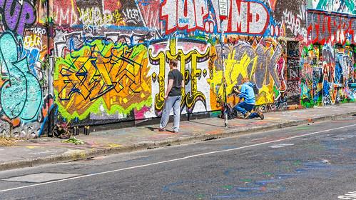 Artists At Work - Dublin Street Art (Windmill Lane) by infomatique