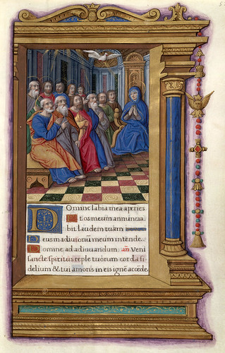 005- Pentecostes-HM 48- fol 55-Copyright (C) 2006 The Regents of the University of California. All rights reserved.