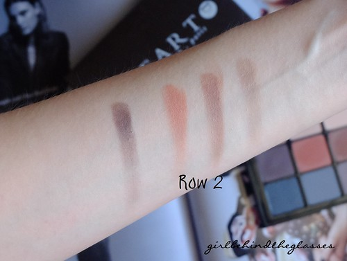 Viseart Neutral Matte Palette Row2 swatches