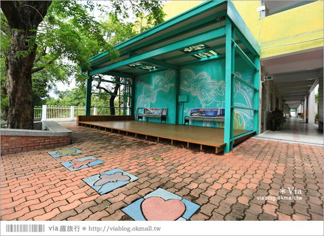 【彰化村東國小】彰化彩繪國小~夢幻繪本風!童話小屋居然在校園裡現身了33