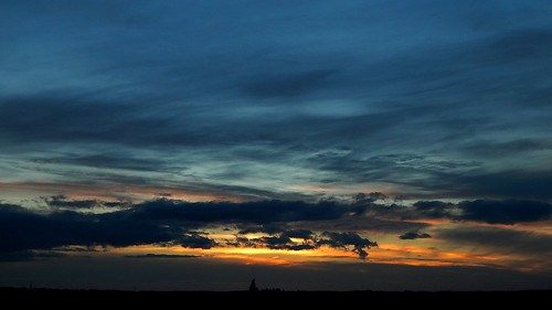 Blue sunset / Blauer Sonnenuntergang