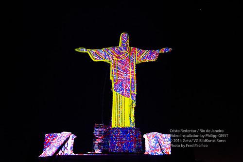 Video Mapping Philipp Geist_Ano da Alemanha no Brasil - Cristo Redentor 2014