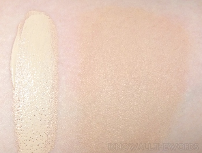 the body shop tea tree flawless bb cream 01 light swatch