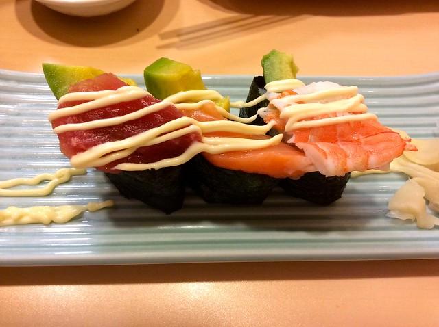 Avocado sushi at Ginzo, Hamamatsucho