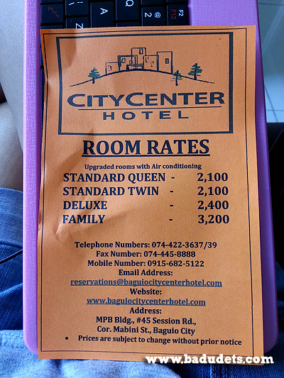 City Center Hotel in Baguio Badudets Everything Nice