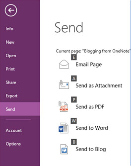 Blogging from OneNote