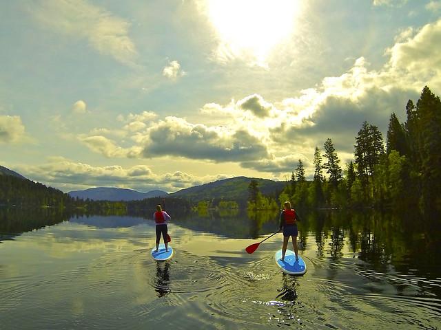 Paddleboarding on Lake Heffley