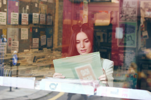 Rough Trade Girl Browsing Record Shop