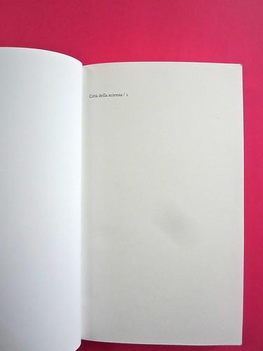 Città della scienza; vol. 1, 2, 3, 4. Carocci editore 2014. Progetto Grafico di Falcinelli & Co. Pagina dell'occhiello / carta di guardia: vol. 1 (part.) 1