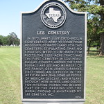Lee Cemetery, Seagoville, Texas Historical Marker
