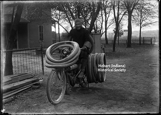 Motorcycle Rider with Tires