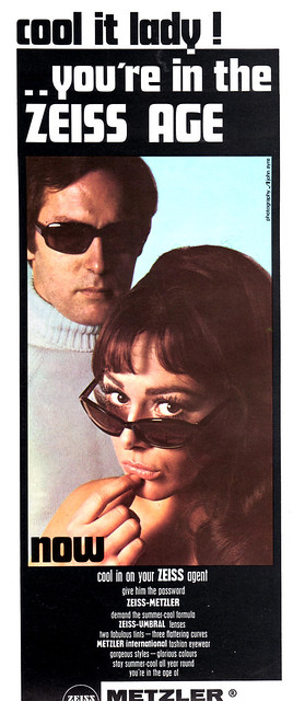 1960s Magazine Ad for Metzler international sunglasses