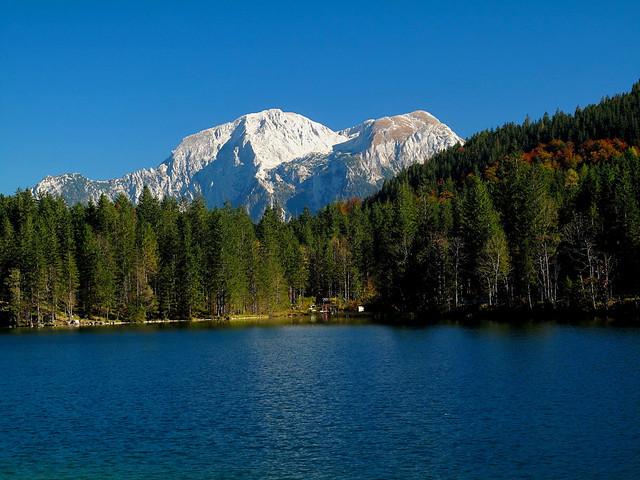 At Lake Hintersee in Berchtesgadener Land