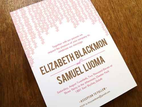 Printable Wedding Invitation - Pink Rain