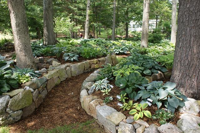 Hosta Garden Curved Stone Edging 2 Flickr Photo Sharing