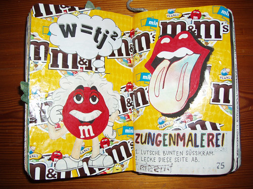 Wreck This Journal: Tongue Painting.