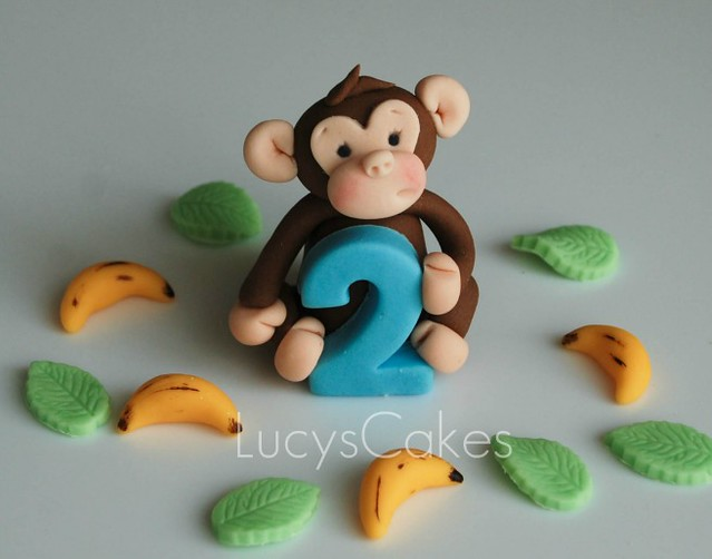 How To Make Edible Monkey Cake Decorations