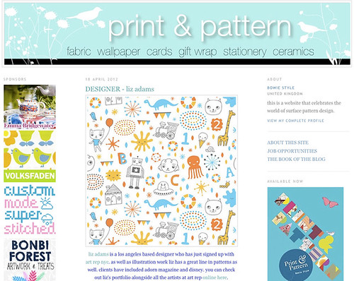 Featured on print&pattern!