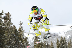 Dave Duncan gets some air during the Sport Chek Ski Cross Canadian Championships.