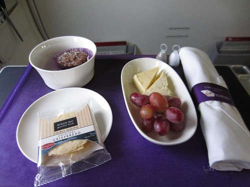 Virgin Australia Business Class Afternoon Snack (the infamous Cheese Plate)