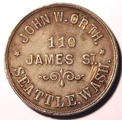 John W. Orth token obverse