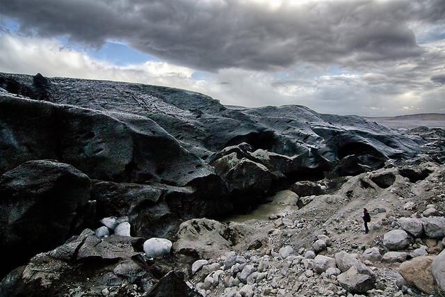 Black Ice - Skaftafellsjökull glacier, Iceland