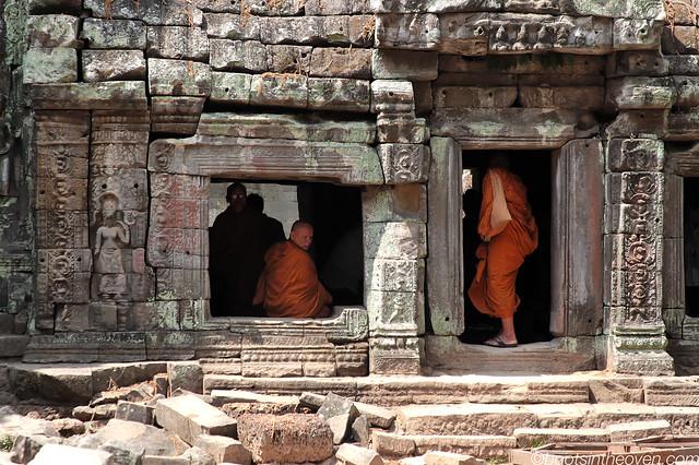 Monks at Ta Prohm