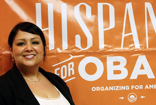Vivian volunteers for President Obama in Florida