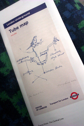 Tracey Emin Tube Map Cover - June 2012