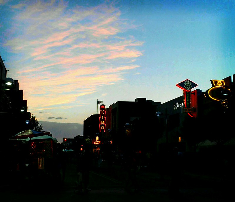 ABQ summerfest winding down at sunset