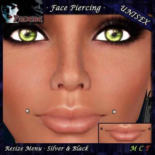 *P* Unisex Face Piercing ~ Serie U3 ~ Dollarbie