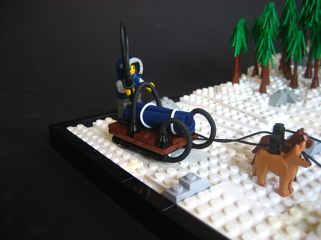 how to build a lego dog sled