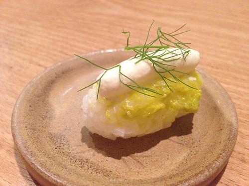 Salt Cod Onigiri at Trois Mec