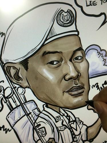 digital caricature for SAF