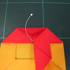 สอนวิธีพับกระดาษเป็นดอกกุหลาบ (แบบฐานกังหัน) (Origami Rose - Evi Binzinger) 013