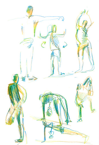 May 2014: Sketching Kettlebell Class