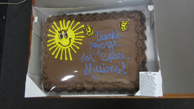 IMG_9773 SBAU thank you cake for George Carlisle space missions