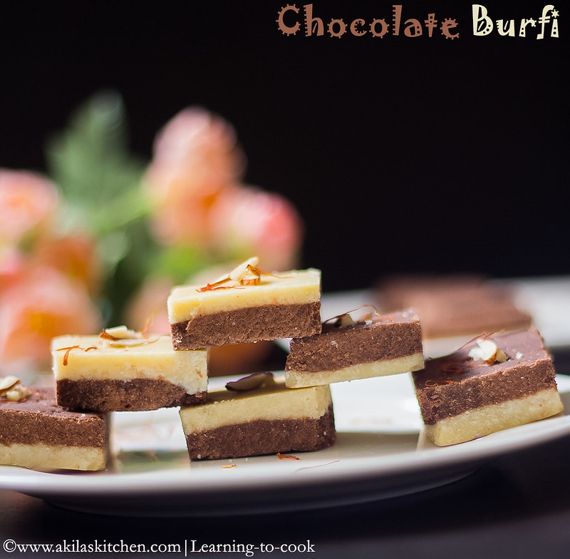 chocolate burfi using khoya
