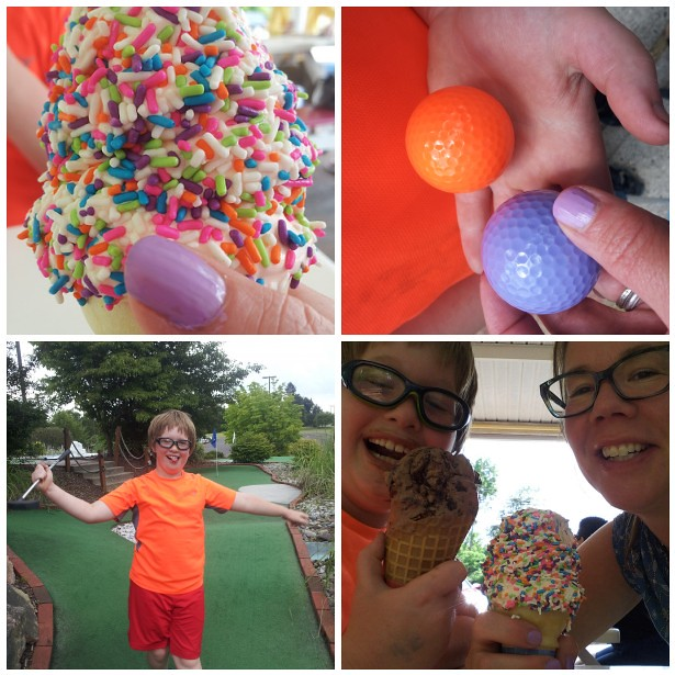 ice cream & miniature golf