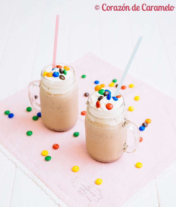 Batido de nutella for Corazon de caramelo