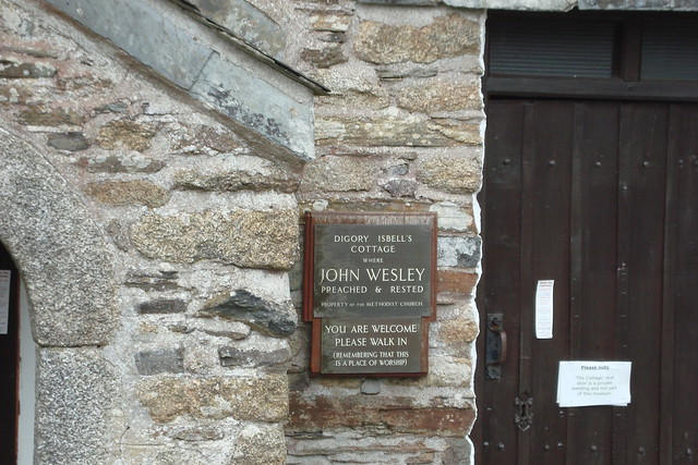 Photo of John Wesley bronze plaque