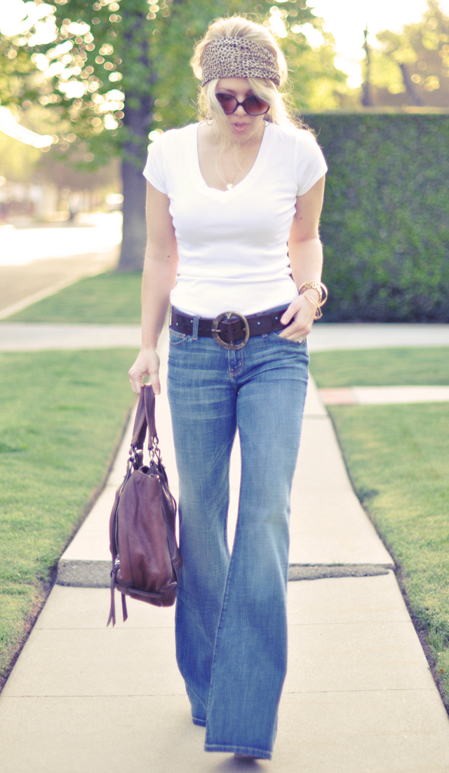 bell bottom jeans - 60's 70's look