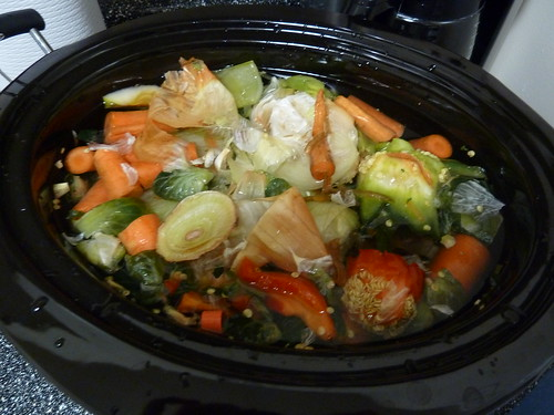Vegetable stock: pre-cooked