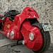 "The Full-scale motorcycle from the japanese popular comic ""AKIRA"" written by Mr.Ootomo."
