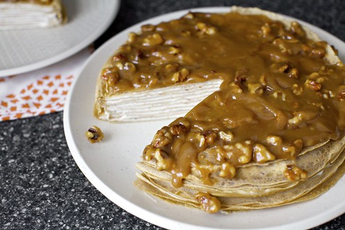 banana bread crepe cake with butterscotch | smitten kitchen