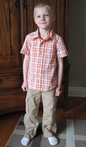 Ottobre 1-2010-21 (shirt) and Ottobre 1-2011-29 (pants