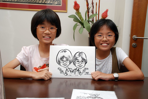 Caricature live sketching for Marks & Clerk Singapore LLP Christmas Party - 2