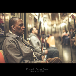Man on subway