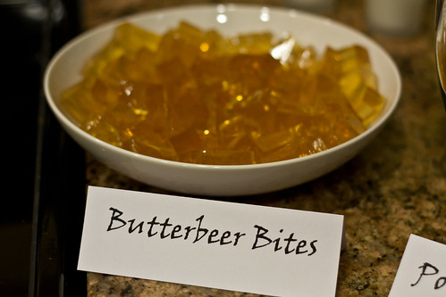 As were these DELICIOUS Butterbeer Jelly Shots (thanks for the tip ...